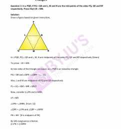 RD Sharma Solutions Class 9 Chapter 10 Congruent Triangles - Free PDF [ 2200 x 1700 Pixel ]
