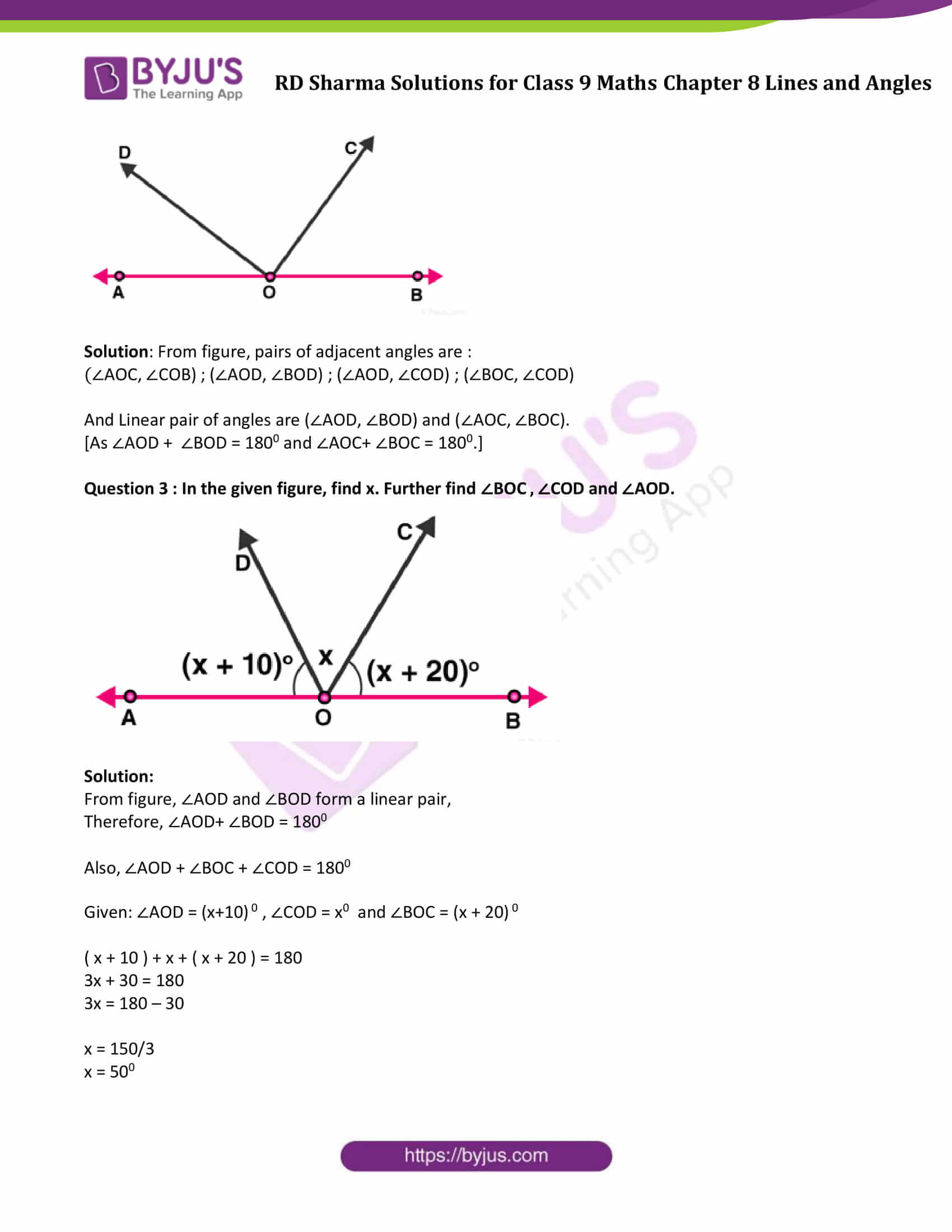 hight resolution of RD Sharma Class 9 Solutions Maths Chapter 8 Lines And Angles