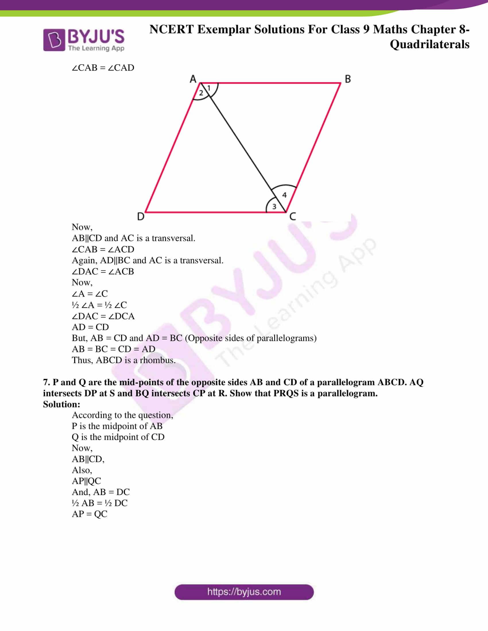 Quadrilaterals Worksheet Class 9