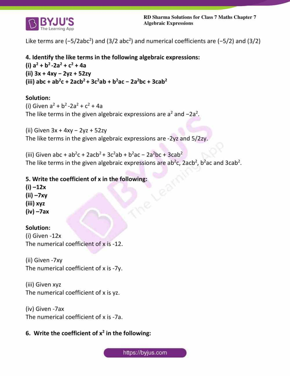 medium resolution of Algebraic Expressions Worksheets 7th Grade   Printable Worksheets and  Activities for Teachers