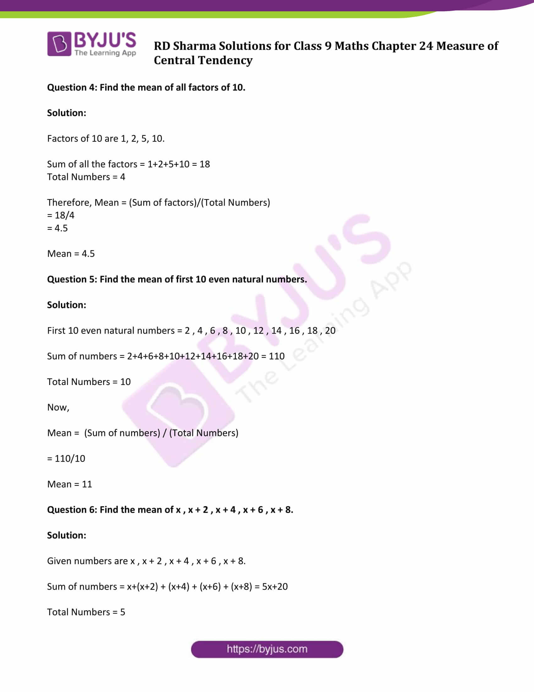 hight resolution of RD Sharma Solutions Class 9 Chapter 24 Measure of Central Tendency - Free  PDF