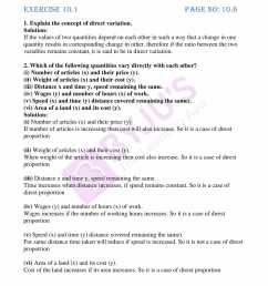 Worksheet On Direct And Inverse Proportion Class 8   Printable Worksheets  and Activities for Teachers [ 2200 x 1700 Pixel ]