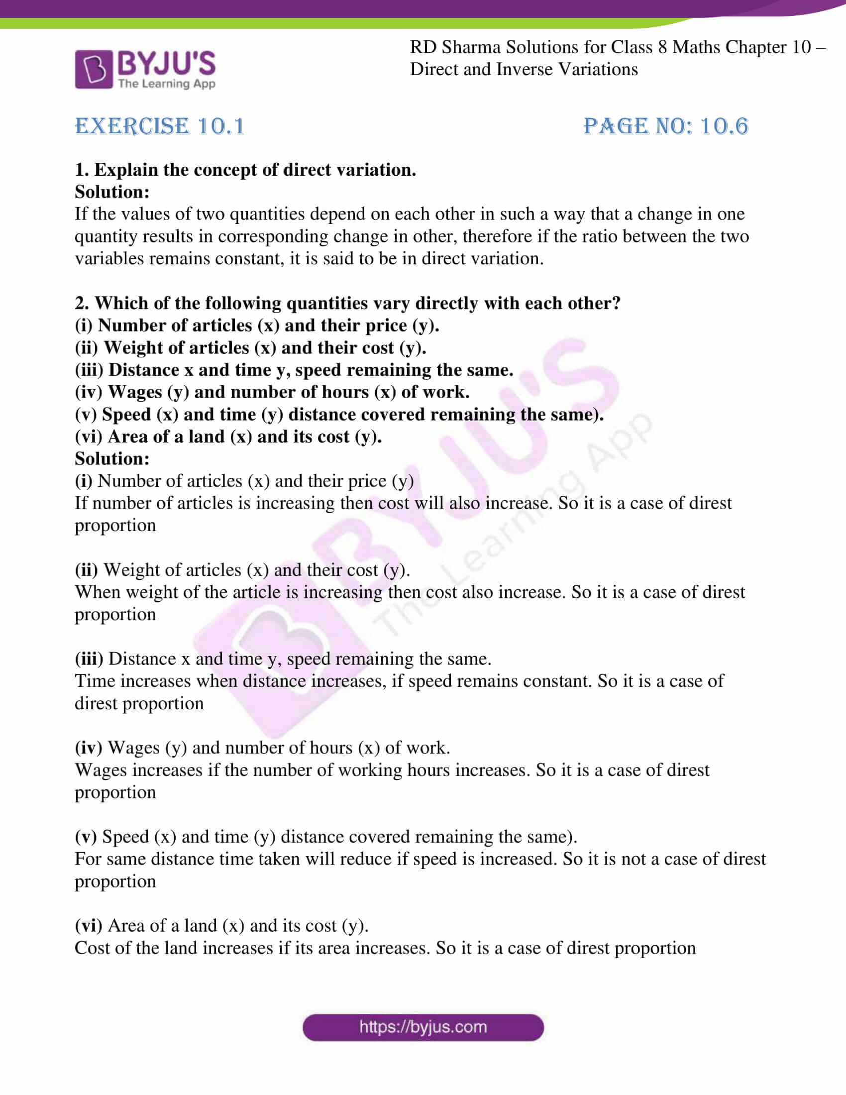 hight resolution of Worksheet On Direct And Inverse Proportion Class 8   Printable Worksheets  and Activities for Teachers