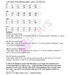 RD Sharma Solutions for Class 8 Chapter 10 Direct and Inverse Variations  free download pdf [ 2200 x 1700 Pixel ]