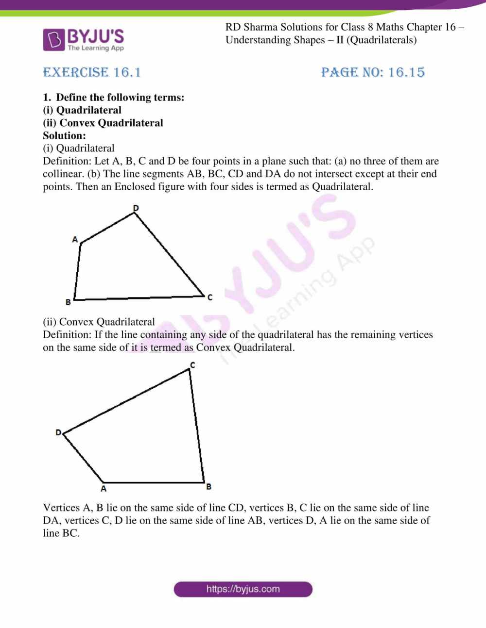 medium resolution of RD Sharma Solutions for Class 8 Chapter 16 Understanding Shapes- II ( Quadrilaterals) download free pdf