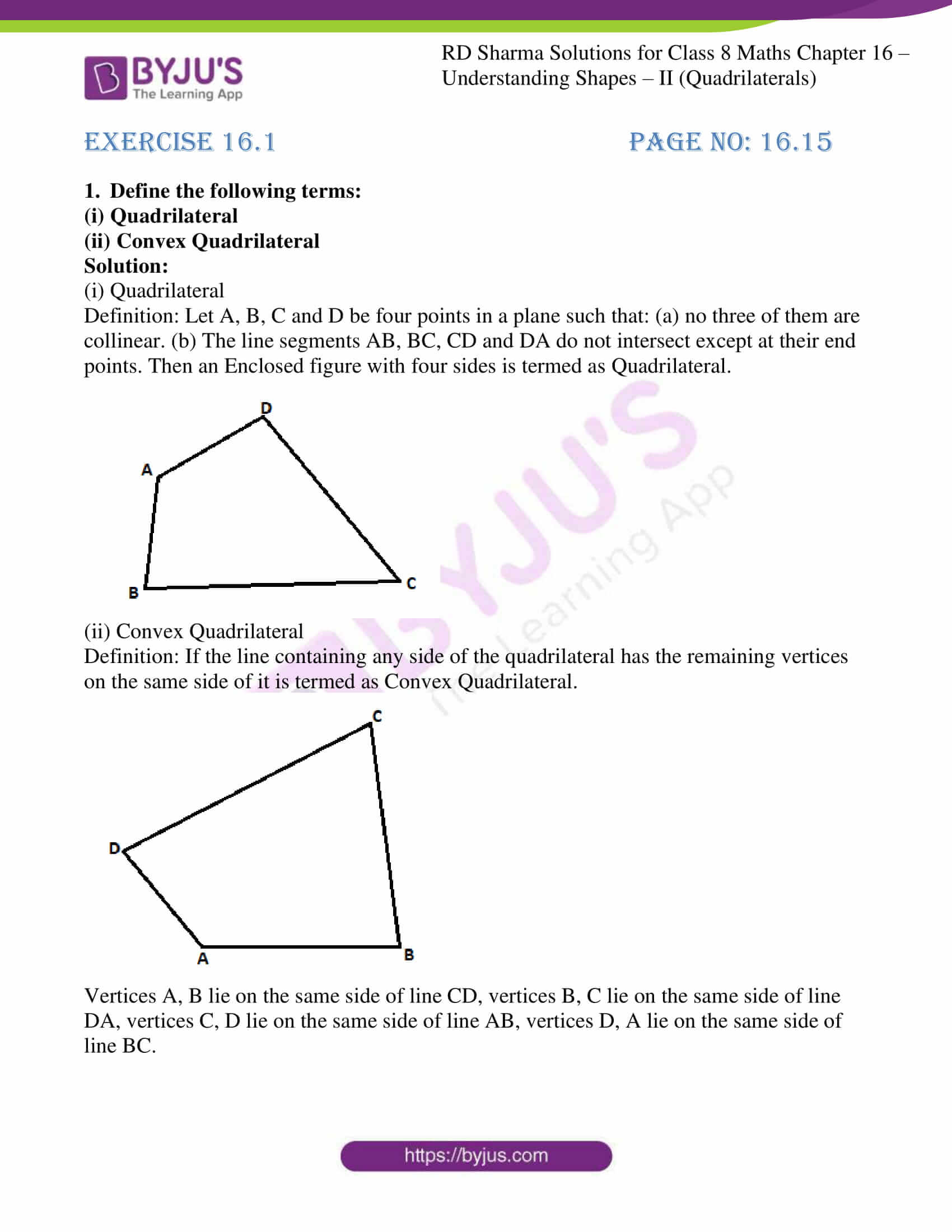 hight resolution of RD Sharma Solutions for Class 8 Chapter 16 Understanding Shapes- II ( Quadrilaterals) download free pdf