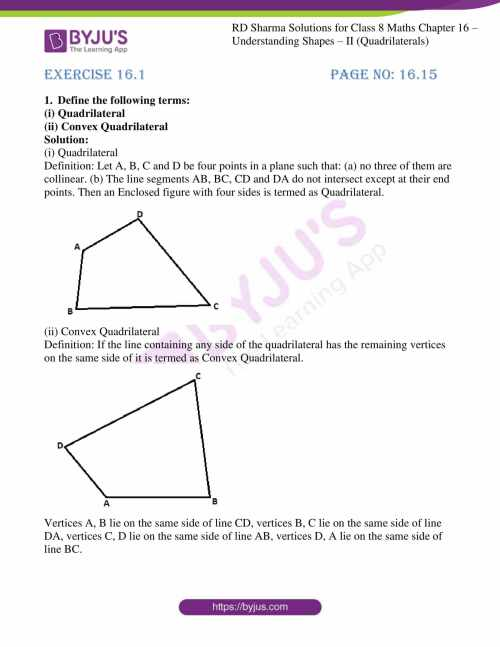 small resolution of RD Sharma Solutions for Class 8 Chapter 16 Understanding Shapes- II ( Quadrilaterals) download free pdf