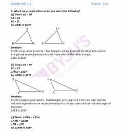 Worksheet On Congruence Of Triangles Class 7   Printable Worksheets and  Activities for Teachers [ 2200 x 1700 Pixel ]