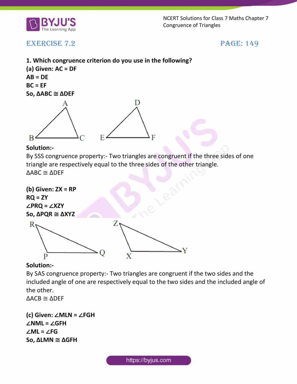 medium resolution of Worksheet On Congruence Of Triangles Class 7   Printable Worksheets and  Activities for Teachers