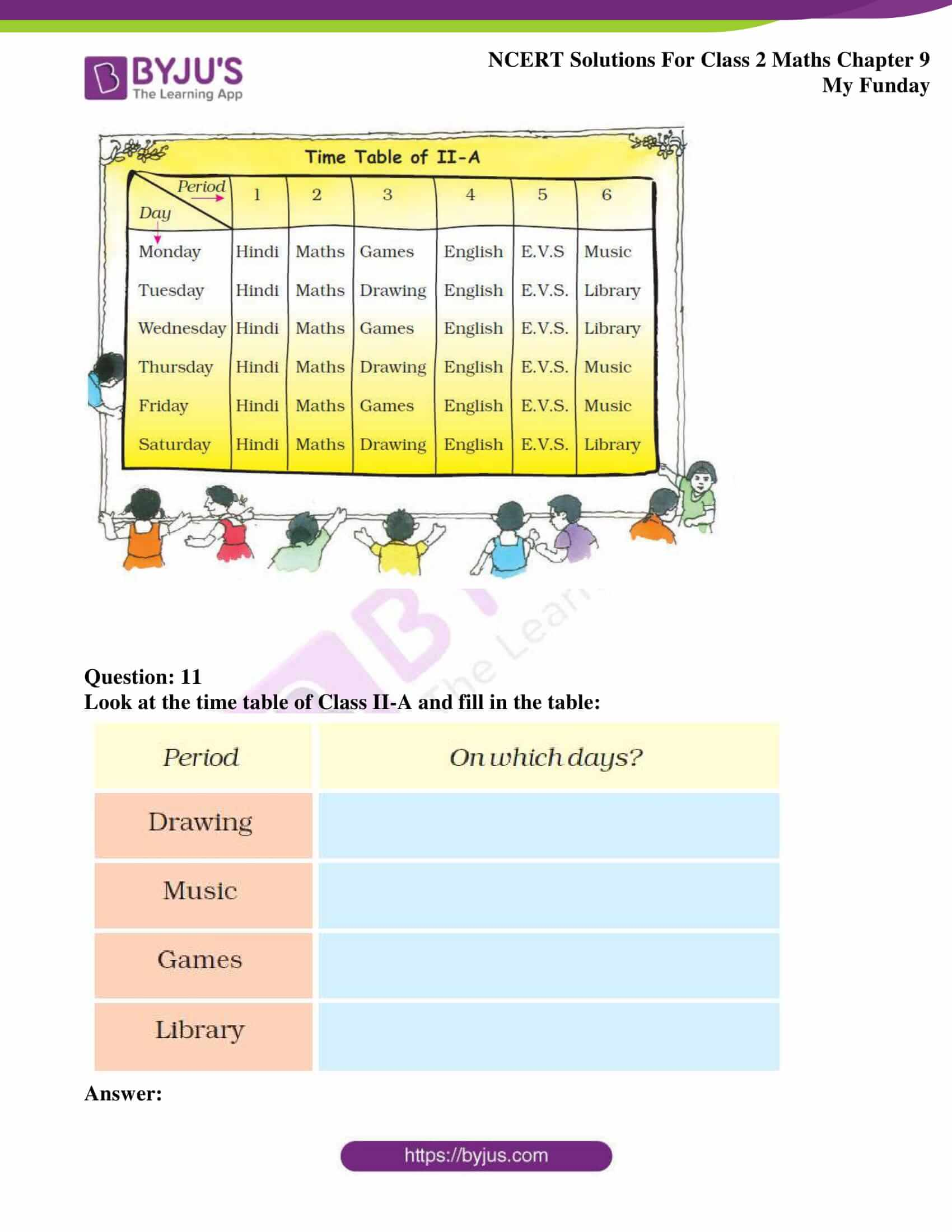 Ncert Solutions For Class 2 Maths Chapter 9 Funday Avail