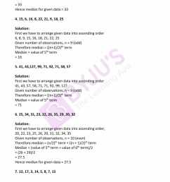 RD Sharma Solutions for Class 7 Maths Chapter 23 - Data Handling - II  (Central Values) Exercise 23.3 - Access free PDF [ 2200 x 1700 Pixel ]