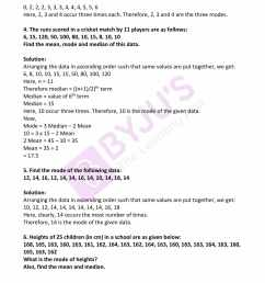 RD Sharma Solutions for Class 7 Maths Chapter 23 - Data Handling - II  (Central Values) Exercise 23.4 - free PDFs are available here. [ 2200 x 1700 Pixel ]