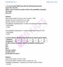 RD Sharma Solutions for Class 7 Maths Chapter 25 - Data Handling - IV ( Probability) - Avail free PDF [ 2200 x 1700 Pixel ]