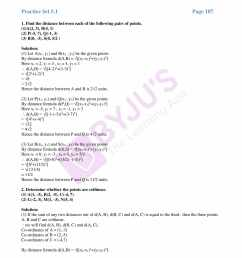 MSBSHSE Solutions For SSC Maths Part 2 Chapter 5- Coordinate Geometry [ 2200 x 1700 Pixel ]
