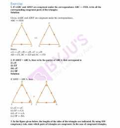 ML Aggarwal Solutions for Class 7 Chapter 12 Congruence of Triangles  download free PDF [ 2200 x 1700 Pixel ]