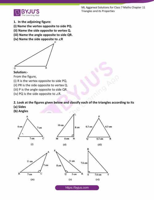small resolution of ML Aggarwal Solutions for Class 7 Maths Chapter 11 Triangles and its  Properties click here to download free PDF