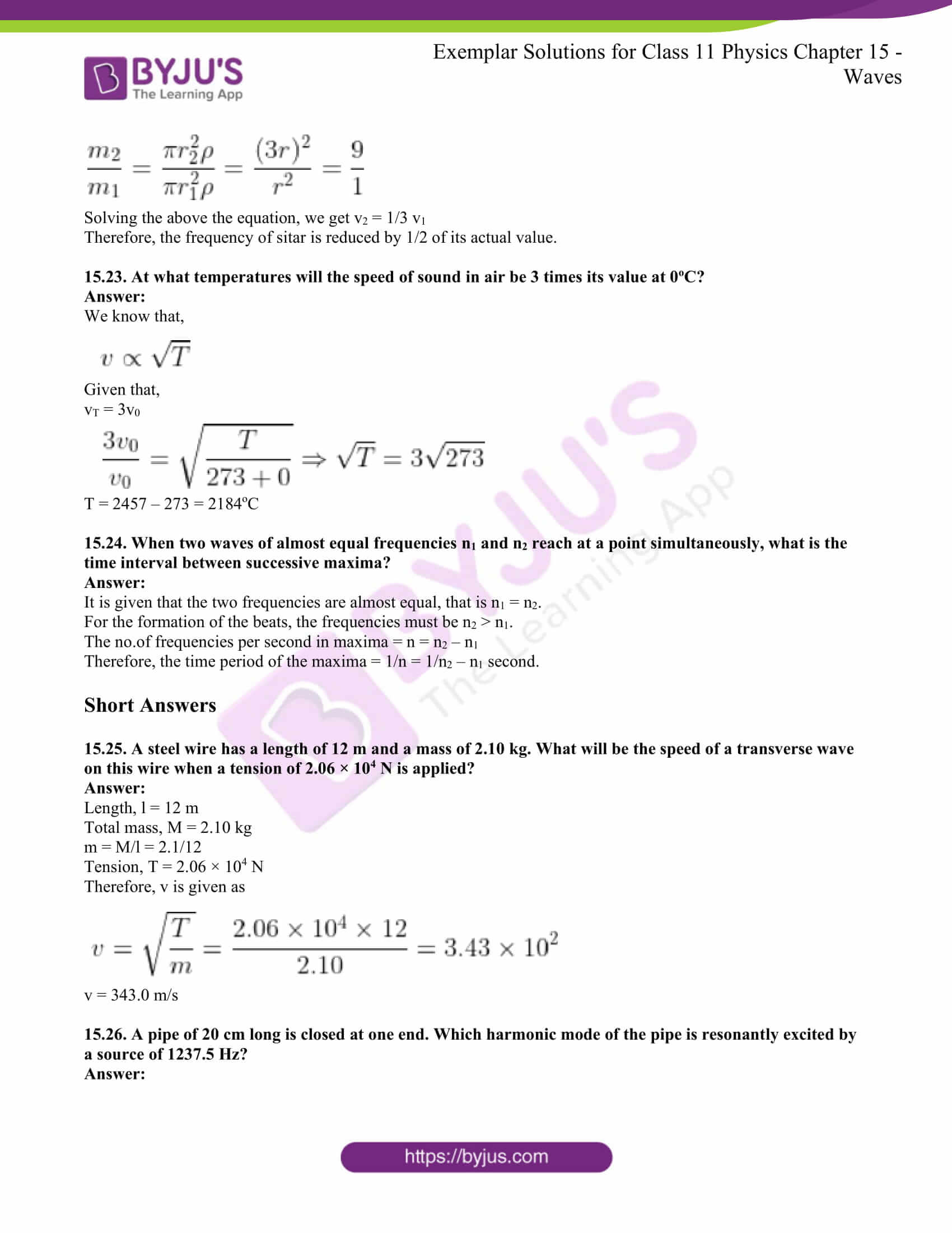 Ncert Exemplar Class 11 Physics Solutions Chapter 15