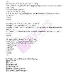 RD Sharma Solutions for Class 7 Maths Chapter 6 - Exponents - Download free  PDF [ 2200 x 1700 Pixel ]