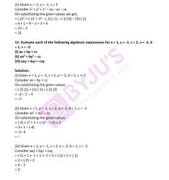 RD Sharma Solutions for Class 7 Maths Chapter 7 - Algebraic Expressions -  Download free PDF [ 2200 x 1700 Pixel ]
