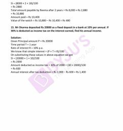 RD Sharma Solutions for Class 7 Maths Chapter 13 - Simple Interest - Avail  free PDF [ 1100 x 850 Pixel ]