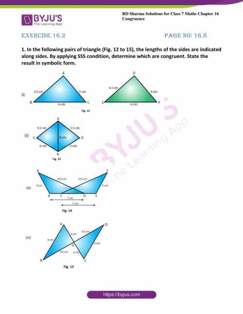 small resolution of RD Sharma Solutions for Class 7 Maths Chapter 16 - Congruence - Free PDFs  are available here