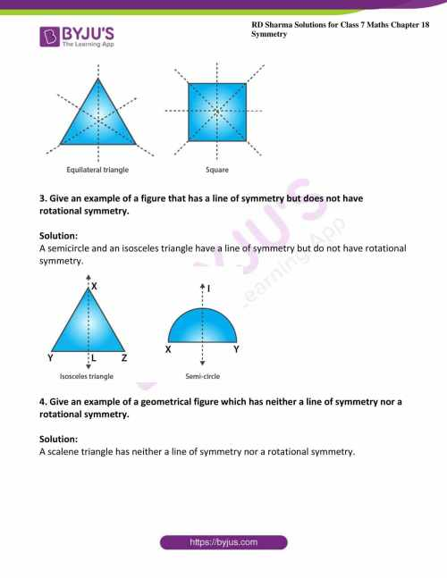 small resolution of RD Sharma Solutions for Class 7 Maths Chapter 18 - Symmetry Exercise 18.3 -  Get Free PDF