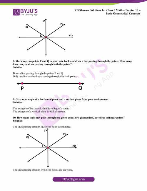 small resolution of RD Sharma Solutions for Class 6 Chapter 10 Basic Geometrical Concepts PDF
