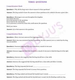 NCERT Solutions for Class 7 English Unit 1 Three Questions- Download  Solutions [ 2200 x 1700 Pixel ]
