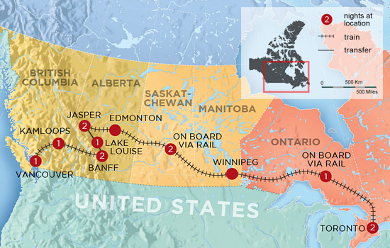 Top 8 Scenic TransCanada Train Trips With Maps