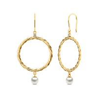 Loop and Pearl Earrings Jewellery India Online - CaratLane.com