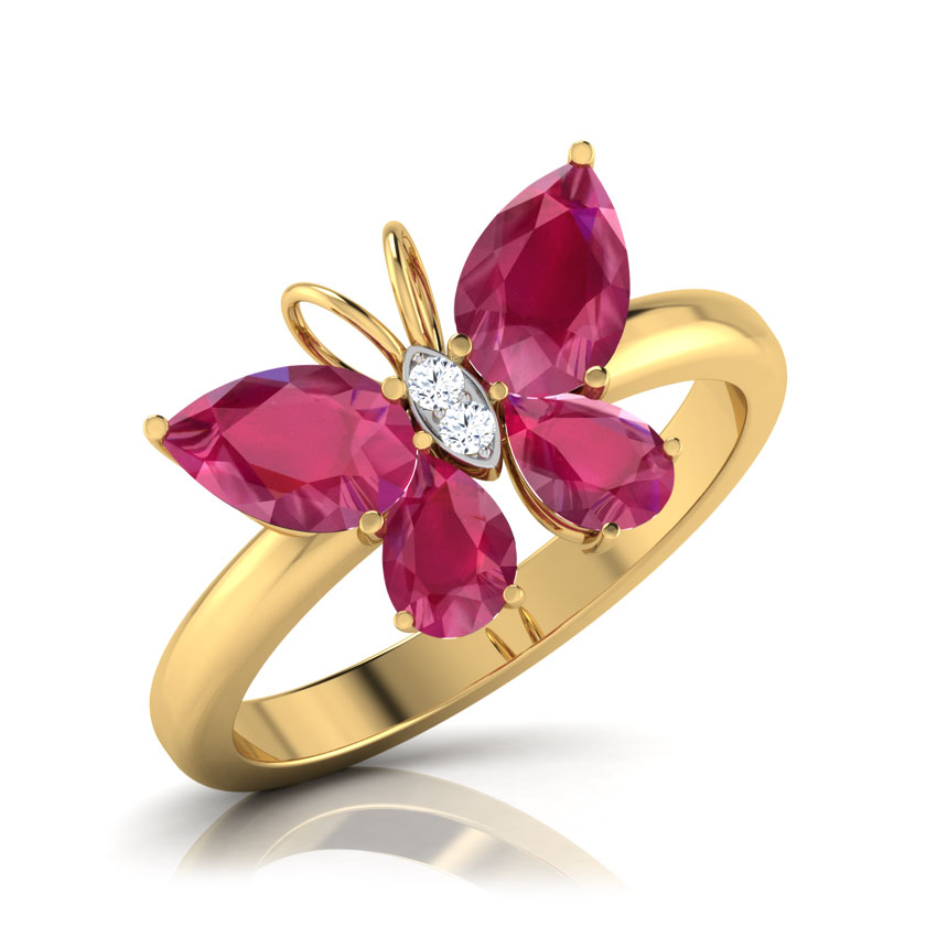 Butterfly Ruby Ring Jewellery India Online