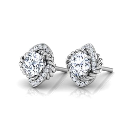 Anora Solitaire Stud Earrings Jewellery India Online