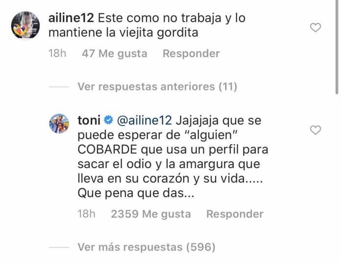 Toni Costa responde a un hater