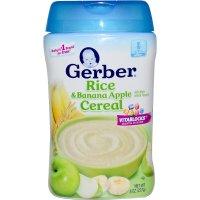 Gerber Rice & Banana Apple Baby Cereal with Vitablocks ...