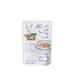 Purina Fancy Feast Broths with Wild Salmon and Whitefish