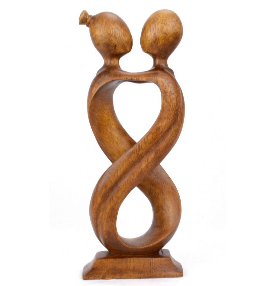 Statue Couple Amoureux Amour Infini H 30cm Cadeau Mariage