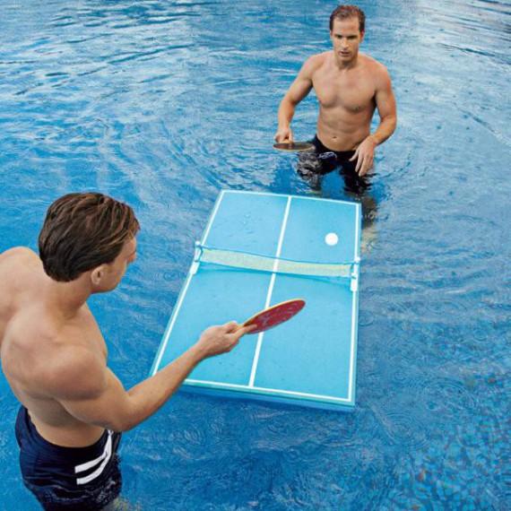 Table de pingpong flottante pour piscine
