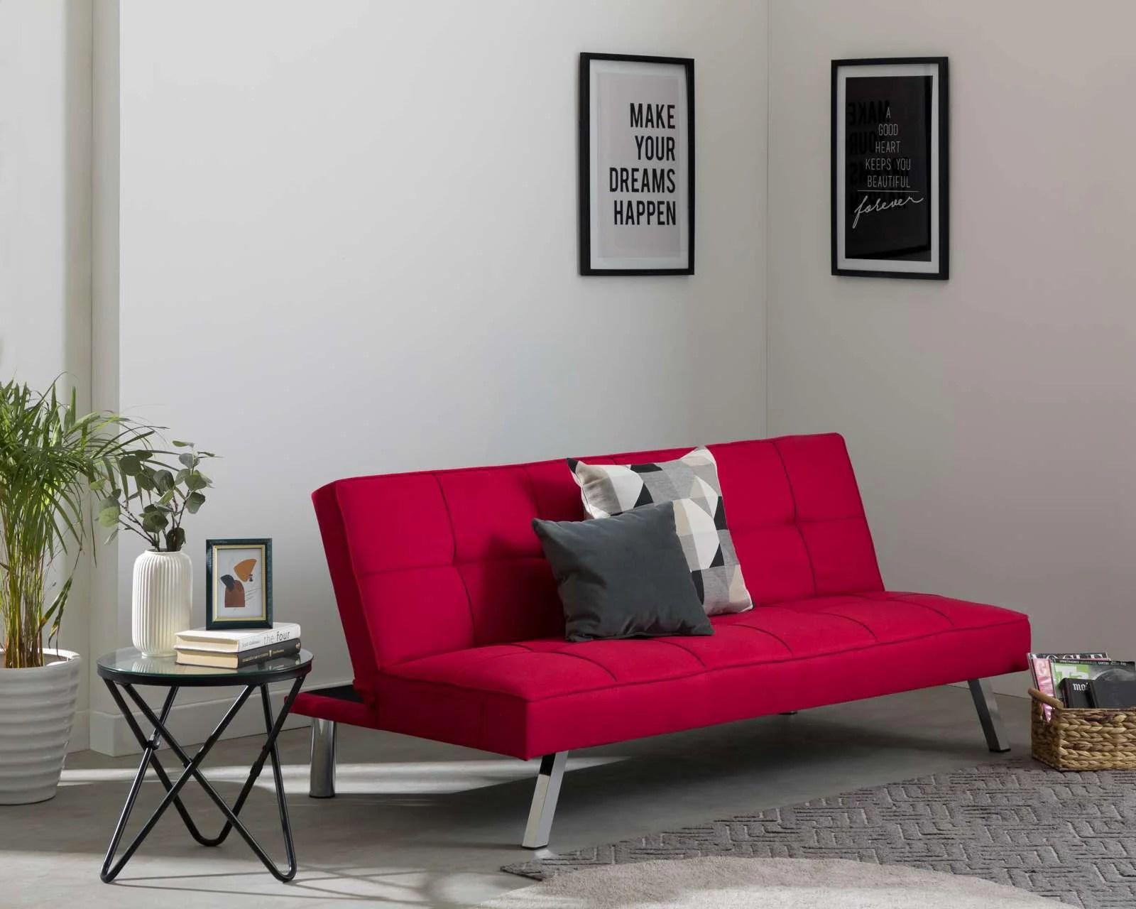 sofa cama individual mexico df flip out bed toddler sofas en linea coppel com granada tela rojo