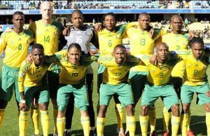 Image result for Bafana Bafana arrive for Eagles clash in Uyo