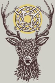Celtic Deer Shirt Deer with celtic knots.
