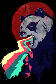 Angry Rainbow Panda Tees Shirts and Hoodies