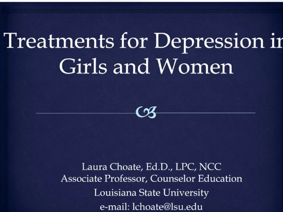 Depression Treatment for Girls and Women