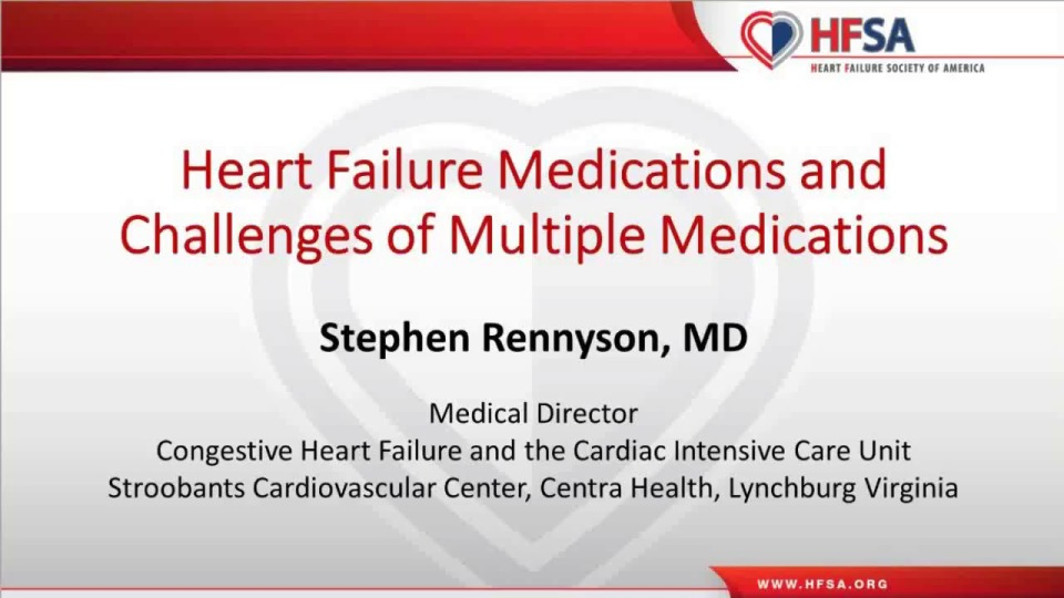 Heart Failure: Medications and Challenges of Multiple ...