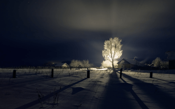 Beautiful Winter Landscapes at Night