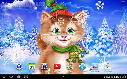 Animated Gif Desktop Wallpaper Winter Cat Live Wallpaper Android Animiert Hintergrundbild