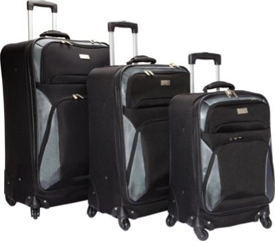 Geoffrey Beene Luggage Brentwood 3 Pc Spinner Wheel Collection