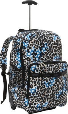 Rolling Backpack Cheetah Print