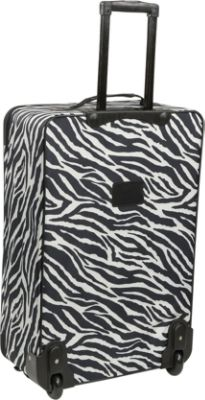 American Flyer Animal Print Luggage Sets - Giraffe Brown