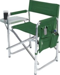 Picnic Time Purple Sports Portable Folding Patio Chair