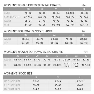 Icebreaker women   oasis leggings size chart also womens ebags rh